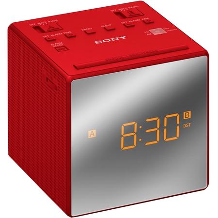 Sony ICF-C 1 TR rood Wekkerradio