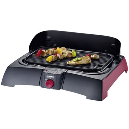 Severin PG2785 zwart-rood Barbecue