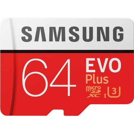 Samsung EVO Plus 64GB microSDXC met adapter