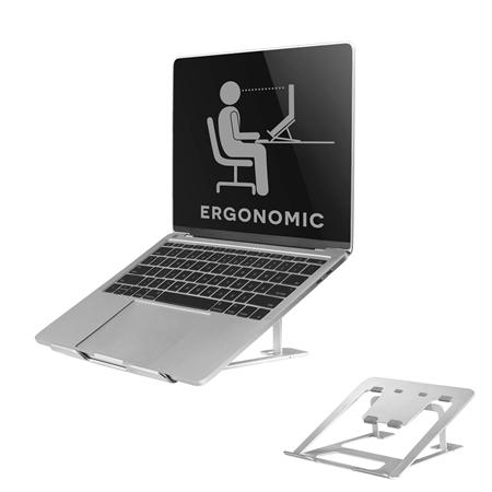 Neomounts by Newstar NSLS085SILVER laptopstandaard grijs