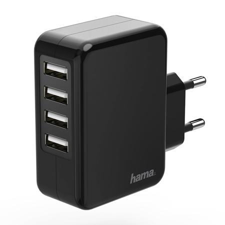 Hama Oplader 4x USB