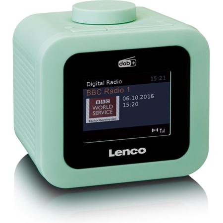 EP-Lenco CR-620 - Wekkerradio met DAB+ en AUX-uitgang Groen-aanbieding