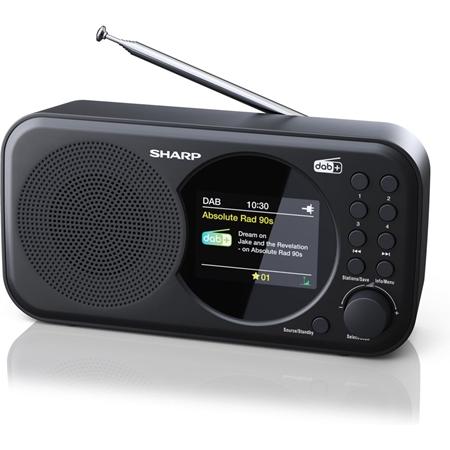 Sharp DR-P320BK FM radio zwart