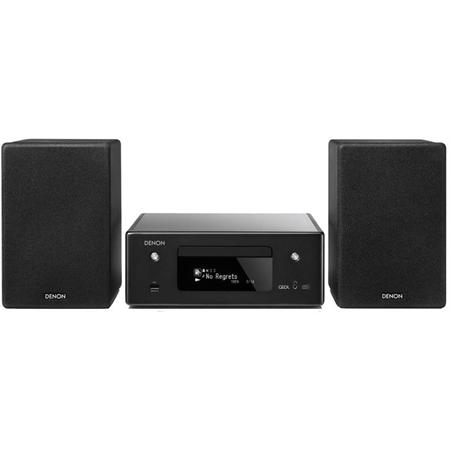 Denon RCD-N11DAB Netwerkmuzieksysteem met speakers zwart