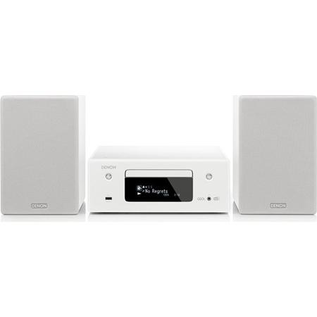 Denon RCD-N11DAB Netwerkmuzieksysteem met speakers wit