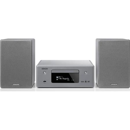 Denon RCD-N11DAB Netwerkmuzieksysteem met speakers grijs