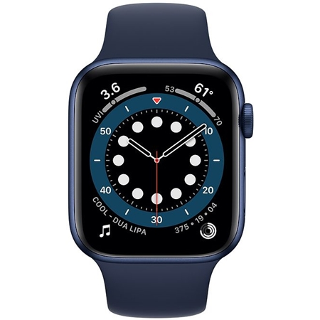 Apple Watch series 6 40mm blauw met donkerblauw sportband