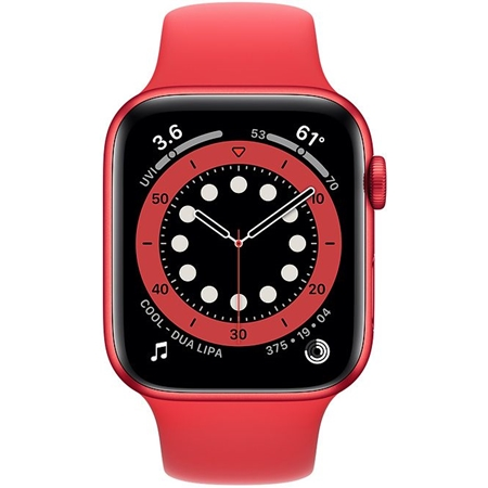 Apple Watch series 6 40mm rood met rode sportband