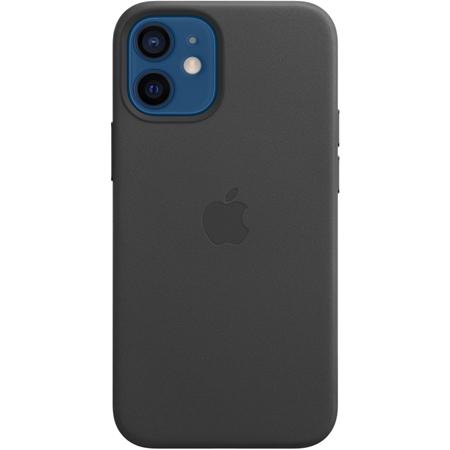Apple iPhone 12 mini leren hoesje met MagSafe zwart