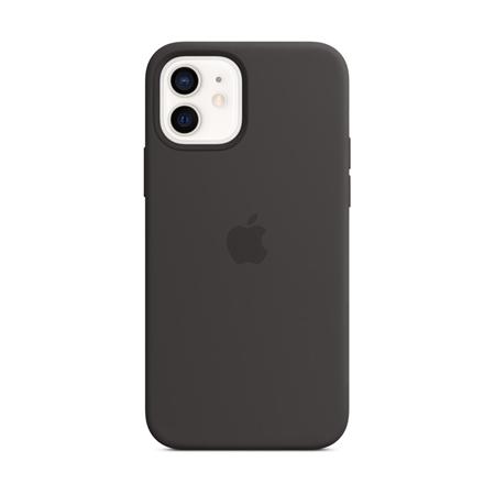 Apple iPhone 12 / 12 Pro silliconen hoesje hoesje met MagSafe zwart