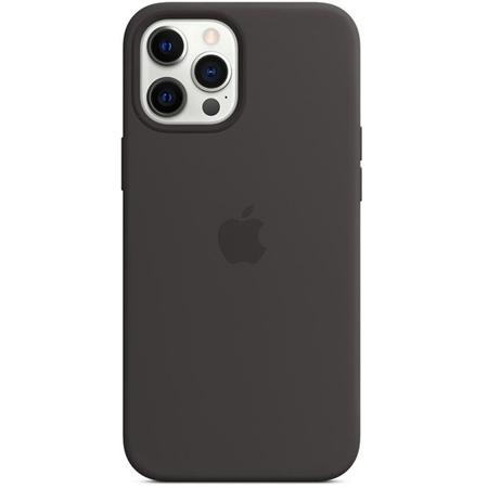 Apple iPhone 12 Pro Max siliconen hoesje met Magsafe zwart
