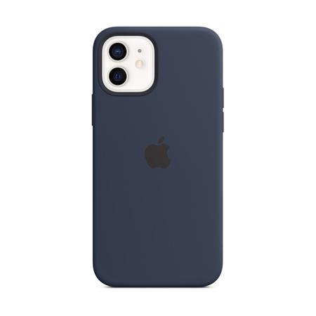 Apple iPhone 12 / 12 Pro siliconen hoesje hoesje met MagSafe donkerblauw
