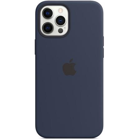 Apple iPhone 12 Pro Max siliconen hoesje met Magsafe donkerblauw