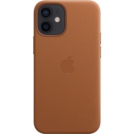 Apple iPhone 12 mini leren hoesje met MagSafe bruin