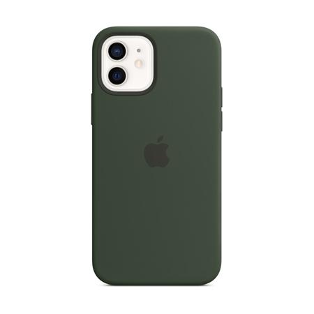 Apple iPhone 12 / 12 Pro siliconen hoesje hoesje met MagSafe groen