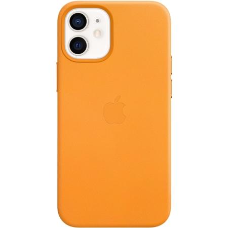 Apple iPhone 12 mini leren hoesje met MagSafe orange