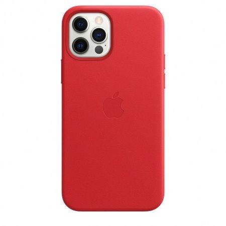 Apple iPhone 12 / 12 Pro leren hoesje met MagSafe rood