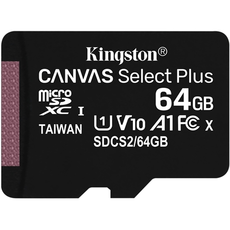 Kingston Canvas Select Plus microSDXC 64GB incl. SD-adapter