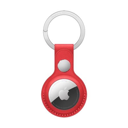 Apple AirTag leren sleutelhanger rood