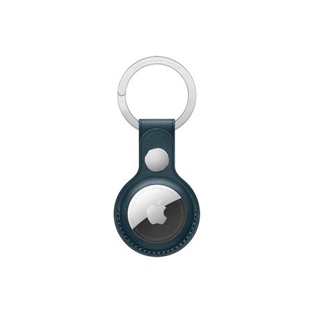 Apple AirTag leren sleutelhanger blauw