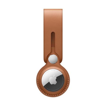 Apple AirTag leren hanger bruin