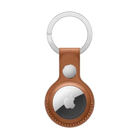 Apple AirTag leren sleutelhanger bruin