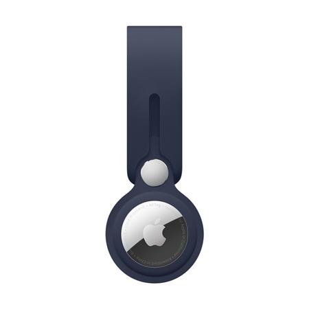 Apple AirTag leren hanger blauw