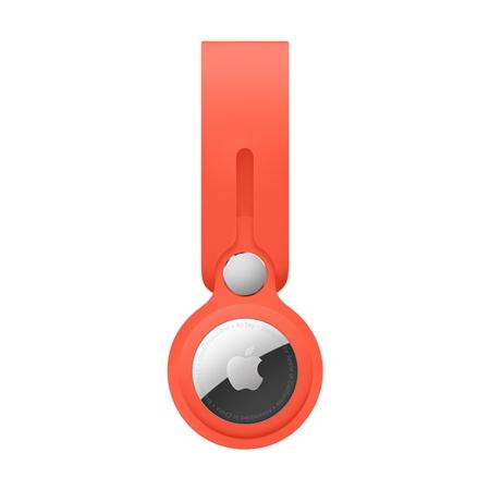 Apple AirTag leren hanger orange