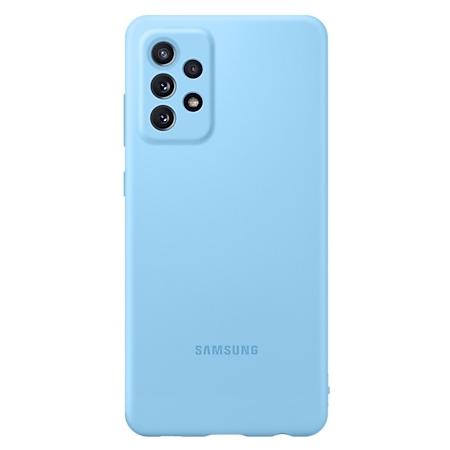 Samsung Galaxy A72 Siliconen hoesje blauw