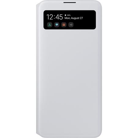 Samsung Galaxy A71 S View Wallet hoesje wit