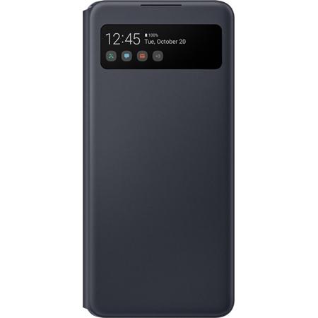 Samsung Galaxy A42 Smart S View hoesje zwart