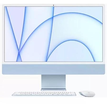 """Apple iMac 24"""" (2021) MJV93N/A, M1 chip, 8GB, 256GB ssd, 7-core GPU blauw"""