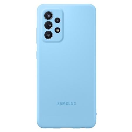 Samsung Galaxy A52 Siliconen hoesje blauw