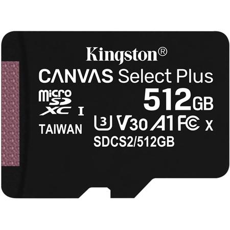 Kingston Canvas Select Plus microSDXC 512GB incl. SD-adapter
