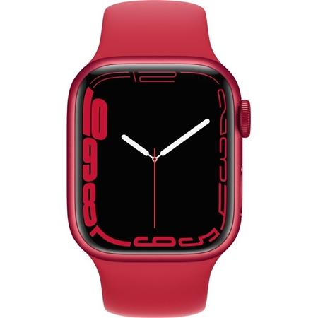Apple Watch Series 7 rood Aluminium rood Sportband 41 mm