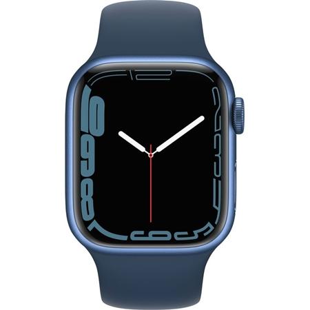 Apple Watch Series 7 blauw aluminium blauwe sportband 41mm