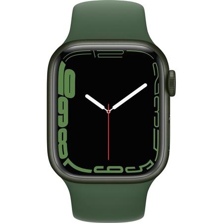 Apple Watch Series 7 groen aluminium groene sportband 41mm