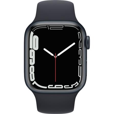 Apple Watch Series 7 nachtblauw aluminium nachtblauwe sportband 41mm