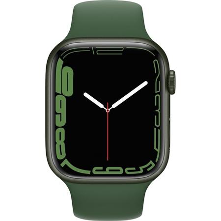 Apple Watch Series 7 groen aluminium groene sportband 45mm