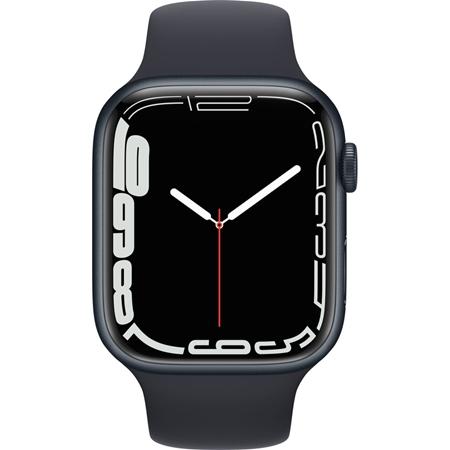 Apple Watch Series 7 nachtblauw aluminium nachtblauwe sportband 45 mm