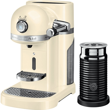 KitchenAid Artisan 5KES0504EAC/3 Nespressomachine met Aeroccino Amandelwit