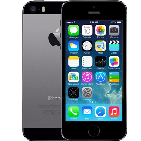 Apple iPhone 5s 16GB zwart (Refurbished A)