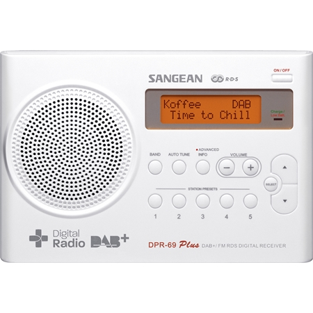 Sangean DPR-69 DAB+ radio wit