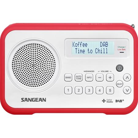 Sangean DPR-67 DAB radio wit-rood
