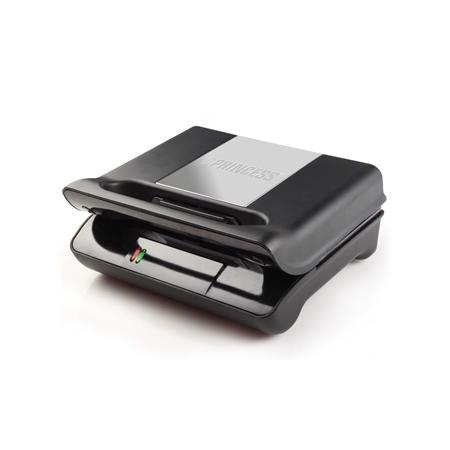 Princess 117001 Grill Compact Flex zwart-zilver Grill & Tosti