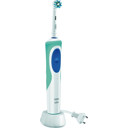 Oral-B Vitality Cross Action Plus HB wit-blauw Elektrische Tandenborstel