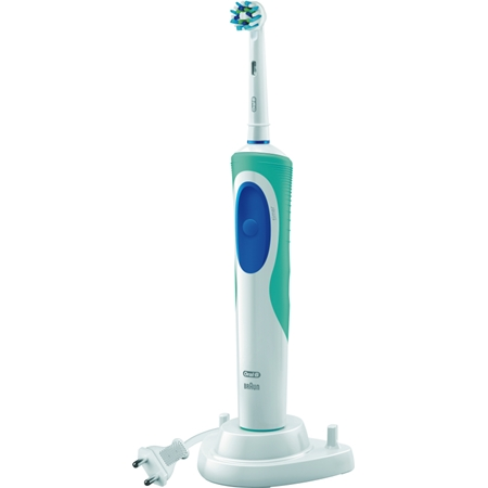 Oral-B Vitality Cross Action Pro Timer wit-blauw Elektrische Tandenborstel