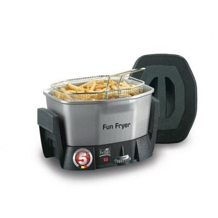 Fritel FF 1200 Fun Fryer chroom-zwart Friteuse