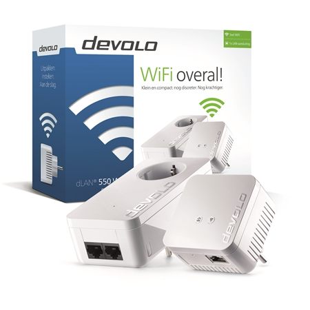 Devolo dLAN 550 WiFi 550 Mbps powerline 2 adapters
