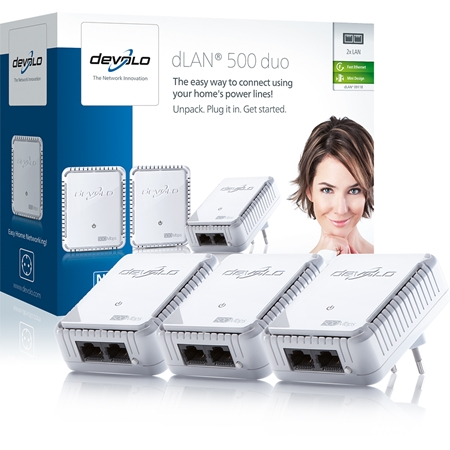 Devolo dLAN 500 Duo Geen WiFi 500 Mbps powerline 3 adapters